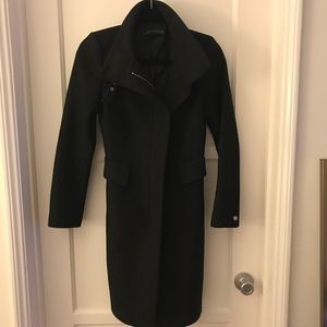 Black wool Zara coat xs